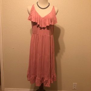 Torrid Casual Pink Cloth Dress Size 00